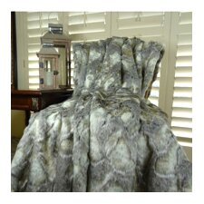 Rabbit Faux Fur Acrylic Throw
