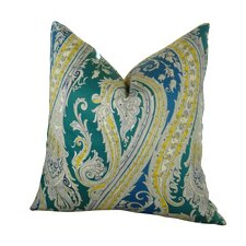 Fun Paisley Double Sided Throw Pillow