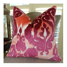 Velvet Bliss Coral Handmade Throw Pillow
