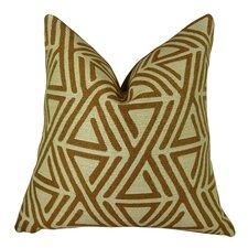 Triangle Maze Handmade Throw Pillow