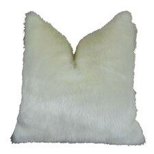 Arctic Fox Handmade Throw Pillow