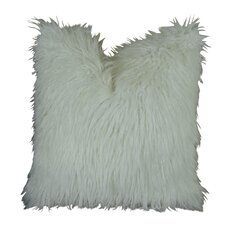 Curly Mongolian Fur Handmade Throw Pillow