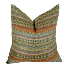 Zig Along Handmade Throw Pillow