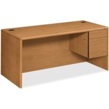 "10700 Series 66""W x 30""D Pedestal Desk"