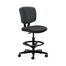 Volt Drafting Chair in Grade V Silvertex Vinyl
