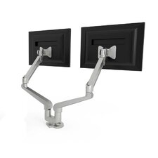 Dual Monitor Height Adjustable 2 Screen Desk Mount