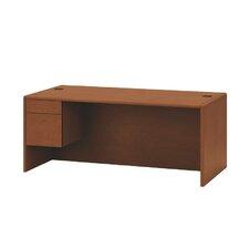 "10700 Series 29.5"" H x 72"" W Left 3/4 Pedestal Desk"