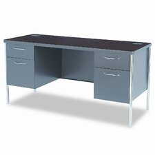 Metro Classic Computer Desk with Double Pedestal