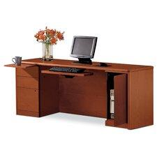 10700 Series Left Box/Box/File Computer Desk with Right CPU Storage