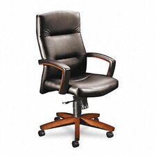 Park Avenue High-Back Leather Executive Chair with Arms