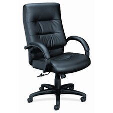 Basyx Executive High-Back Leather Chair