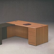 10700 Series Pedestal Desk with 3 Drawers