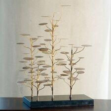 Eucalyptus Tree Decorative Accent Sculpture