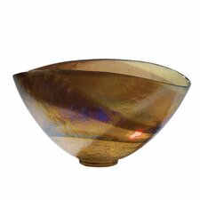 Golden Large Iridescent Oval Decorative Bowl