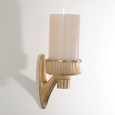 Ribbed Car Mirror Metal Sconce