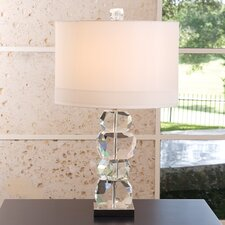 "Stacked Gemstone 30.25"" H Table Lamp with Drum Shade"