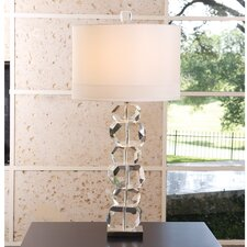 "Stacked Gemstone 37.5"" H Table Lamp with Drum Shade"