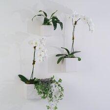 Dimple Ceramic Square Wall Vase