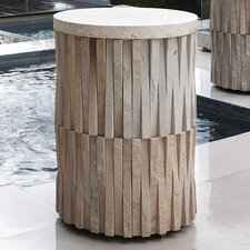 Round Teeter Totter Stone Side Table