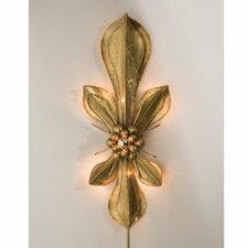 Brass Fleur De Lis Wall Sconce