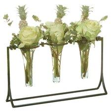 Square Knot 3 Vial Holder Vase