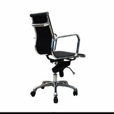 Metro Mid-Back Leather Office Chair with Adjustable Height