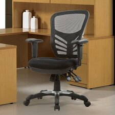 High-Back Mesh Conference Chair with Adjustable Height