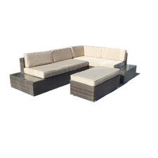 Cambridge L-Shaped 3 Piece Deep Seating Group with Cushion
