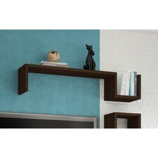 "Accentuations Zemmur ""S"" Shaped Floating Wall Mount Shelf in Tobacco"