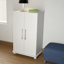 Accentuations Innovative Catalonia Mobile Show Closet 2.0 with 6 Shelves in White