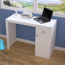 Accentuations Modena Classic Work Desk with 1- Drawer and 1-Door in White