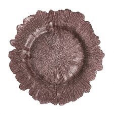 """13"""" Flora Glass Charger Plate (Set of 4)"""