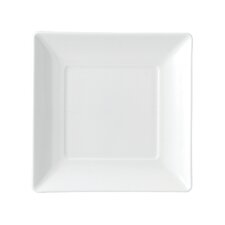 Ashlar White Square Bread and Butter Plate