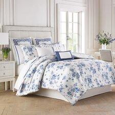 China Blue 4 Piece Comforter Set