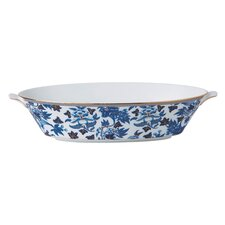 Hibiscus Oval Serving Bowl