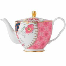 Harlequin Butterfly Bloom Ceramic Teapot