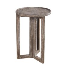 Distressed Modern Round  Large Side Table