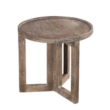 Distressed Modern Round Small Side Table