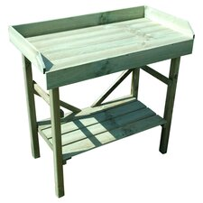 Timber Rectangular Potting Table