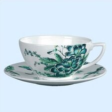 Chinoiserie White Tea Saucer