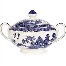 Willow Blue Sugar Bowl with Lid