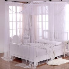 Palace Crystal Sheer Panel Bed Canopy