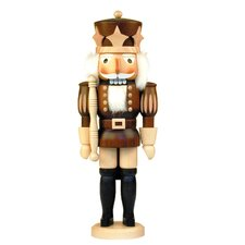 Natural Wood Finish Prince with Stars Nutcracker