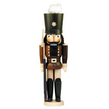 Natural Wood Finish Soldier Nutcracker