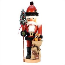 Santa with Teddy Bear Nutcracker