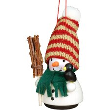 Snowman with Broom Ornament