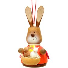 Christian Ulbricht Bunny with Baby Painted Ornament