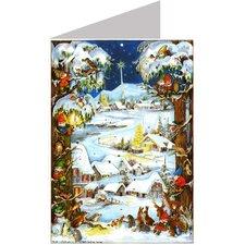 Sellmer Village Scene Advent Card (Set of 2)