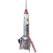 Collectible Decorative Tin Toy Rocket Ship