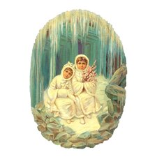 Standing Winter Girls Card